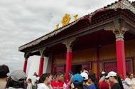 Ustuu-Khuree Buddhist temple in Chadan, Tuva. During Khoroo ceremony, July 2017